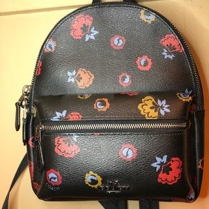 Black floral Mini Charlie Bag
